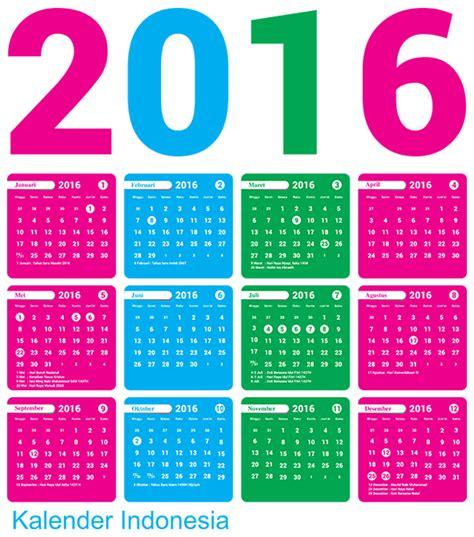 desain kalender lucu 2016 desain kalender 2016 indonesia lengkap libur nasional