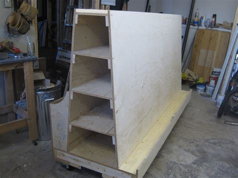 Plywood Storage Rack by Lumber Storage Rack By Bagtown Lumberjocks