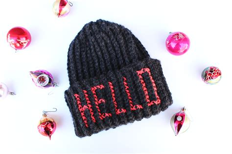 Embroidered Beanie diy embroidered letters beanie hat the drop stitch