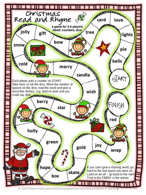 printable christmas english games fun games 4 learning christmas literacy freebies