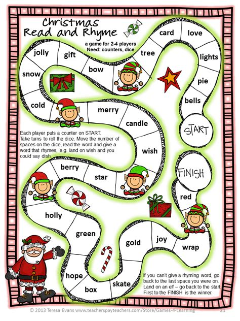 fun games  learning christmas literacy freebies