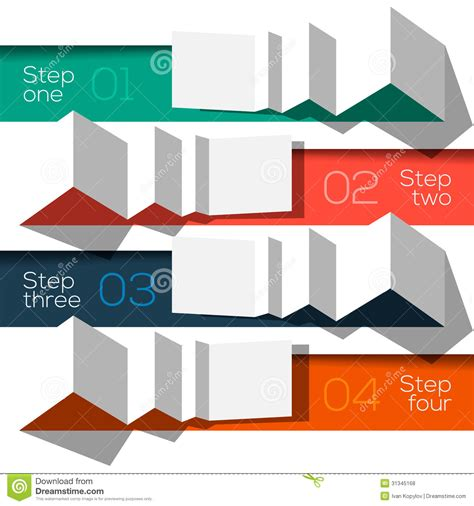 Modern Design Info Graphic Template Origami Styled Stock Vector Illustration 31345168 Graphic Template