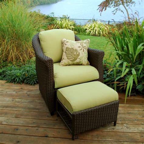 patio chair with hidden ottoman etta green fully woven chair with hidden ottoman at menards 174