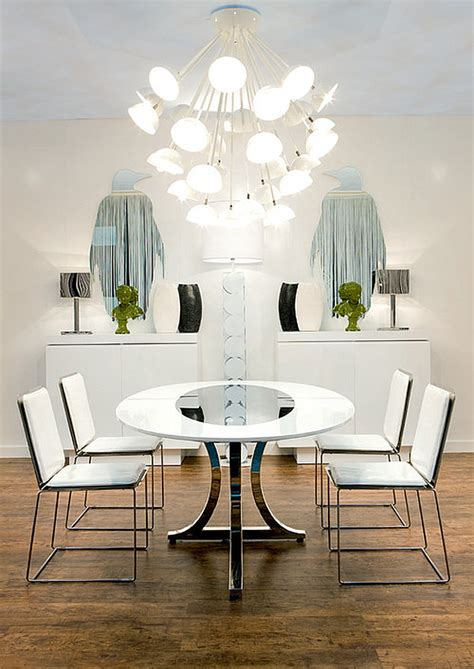 modern white dining room table art deco interior designs and furniture ideas