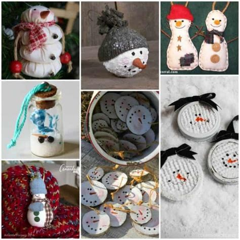 snowman decorations to make 27 diy snowman ornaments for snowman ornament crafts