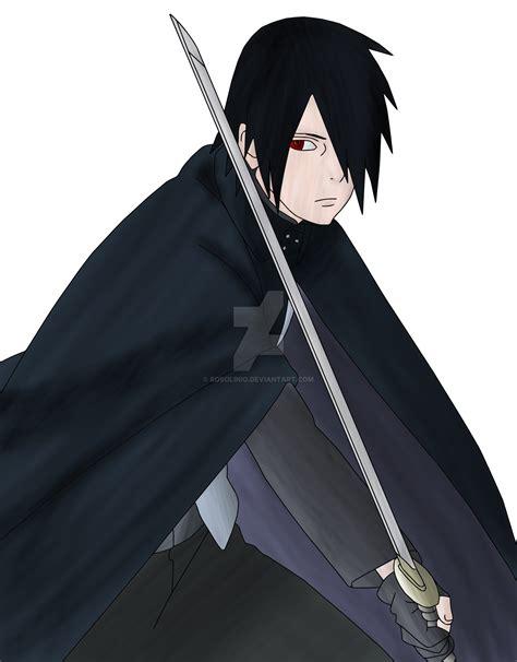 wallpaper sasuke di boruto naruto the movie uchiha sasuke boruto the movie lineart colored by