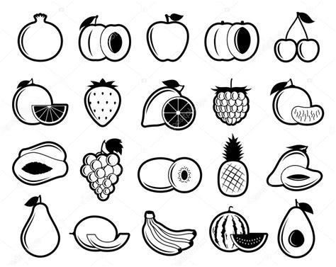 imagenes blanco y negro de frutas iconos de frutas vector blanco y negro archivo im 225 genes