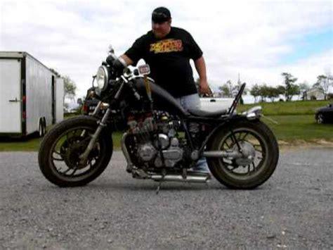 82 maxim xj750 custom exhaust youtube