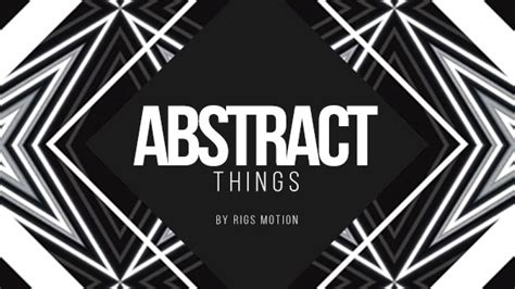 Videohive Abstract Things Fashion Opener After Effects Project Free After Effects Things After Effects Template