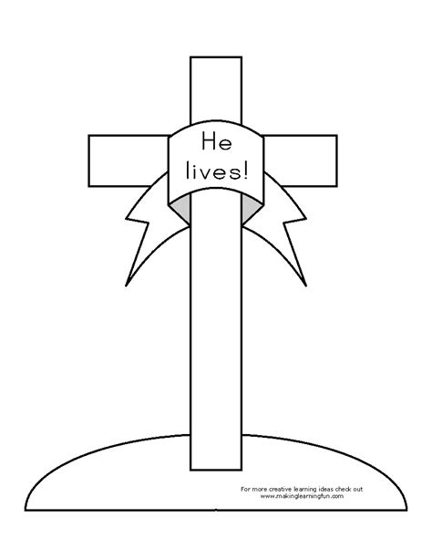 free easter cross coloring pages