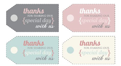 free printable thank you tags template 5 best images of free printable thank you tags for favors