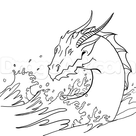 water dragon coloring page how to draw a water dragon or sea serpent step by step