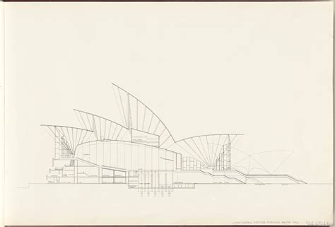 sydney opera house section sydney opera house the red book state records nsw