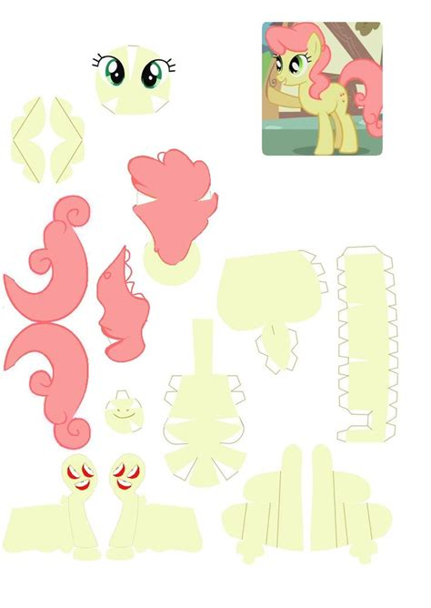 Papercraft My Pony - 214 best images about my pony papirklip on