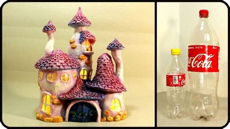 diy whimsy fairy house lamp  coke plastic bottles