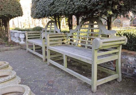 lutyens style garden bench pair of lutyens style garden bench seats of teak at 1stdibs