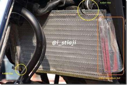 Cover Radiator Rapat Bikin buat sendiri cover radiator honda cb150r dengan kawat