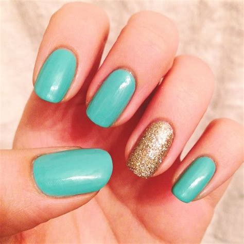 aqua acrylic nails aqua and gold nail inspirations nails accent nails