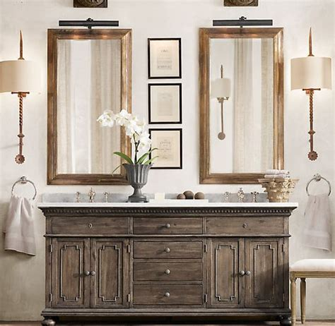 st james double vanity sink antiqued coffee oh how i
