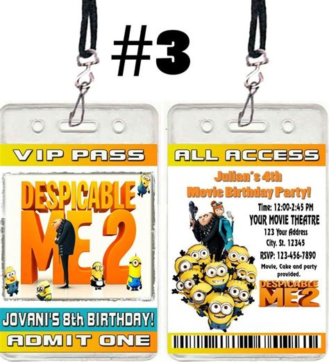 details about despicable me 2 birthday party invitations
