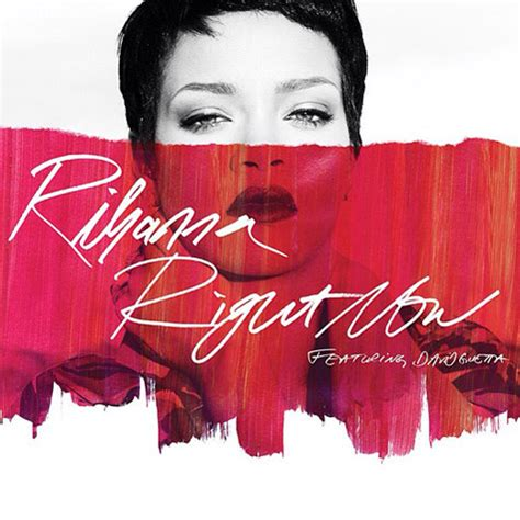 is right now single artwork rihanna feat david guetta right now