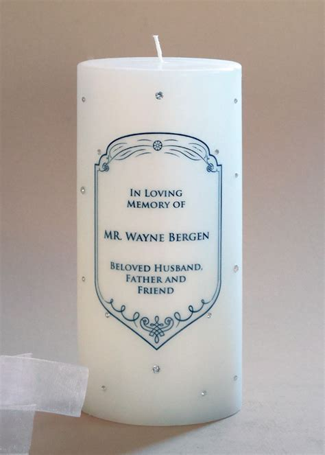 Crest Swarovski Crystal Vintage Memorial Candle