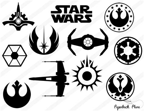 templates for vinyl cutters star wars svg png cut files for use with silhouette studio