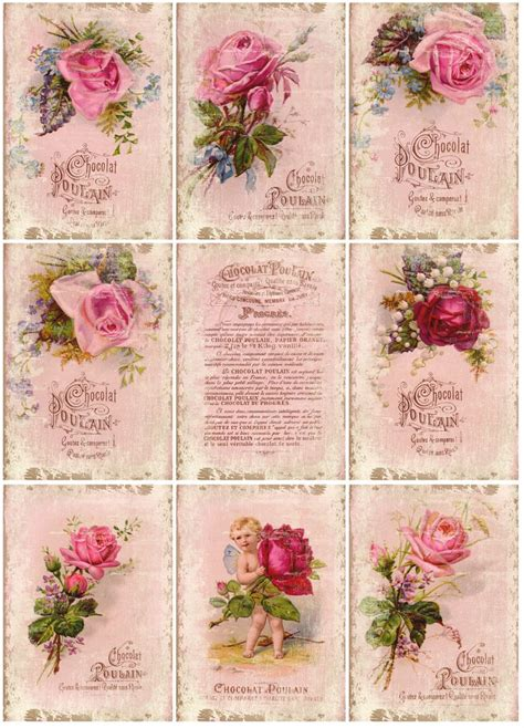 decoupage printables roses printable скрапбукинг decoupage
