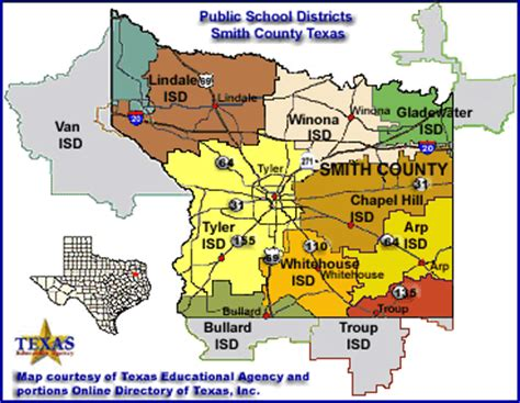 smith county texas map smith county texas schools districts