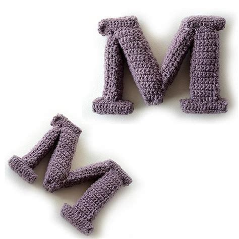 crochet pattern font letter m 3d alphabet words home deco font with serif