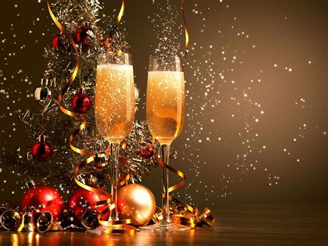 ornements de noel champagne  nouvel  fond decran hd apercu wallpapercom