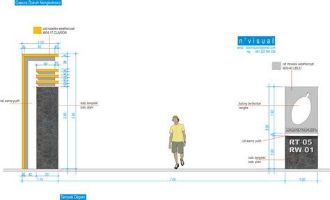 desain gapura desain gapura minimalis 171 sketch s blog