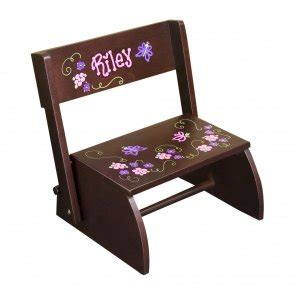 Painted Personalized Step Stools by Painted Personalized Flip Stool A Step Stool And A