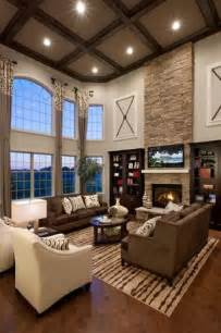 High Ceiling Living Rooms Contemporary Living Room With Box Ceiling Hardwood Floors High Ceiling Arched Window