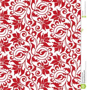 Red seamless flower damask pattern royalty free stock images image