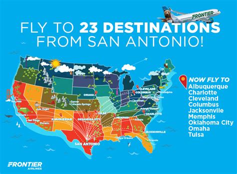 frontier adds nine new routes from san world