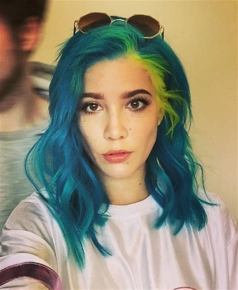 halsey hairstyles blue pink purple hair photos mane addicts manespiration halsey goes neon by danny moon