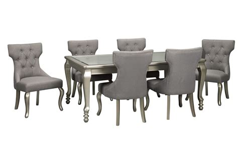 coralayne dining set with 6 side chairs