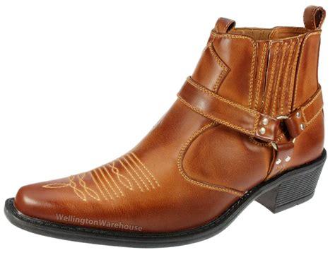 high cuban heel boots us brass mens eastwood brown high cuban heel cowboy