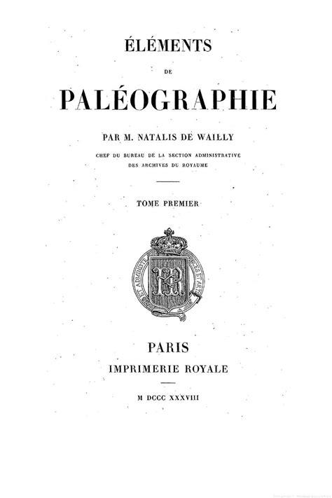 Calaméo - Éléments de paléographie, tome 1