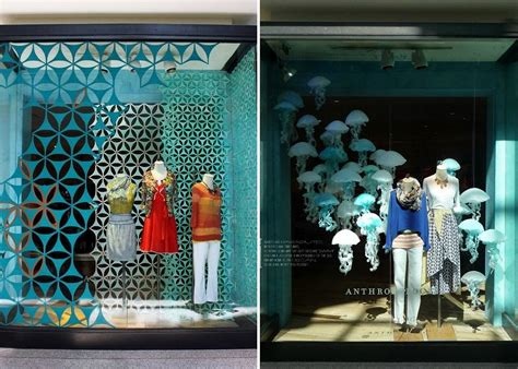 window fixtures visual merchandising and widow display with paper cutouts
