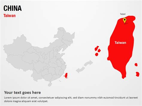 China Ppt Template Taiwan China Powerpoint Map Slides Taiwan China Map