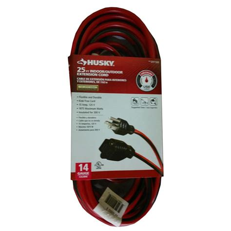 husky 25 ft 14 3 extension cord hd 277 533 the home depot