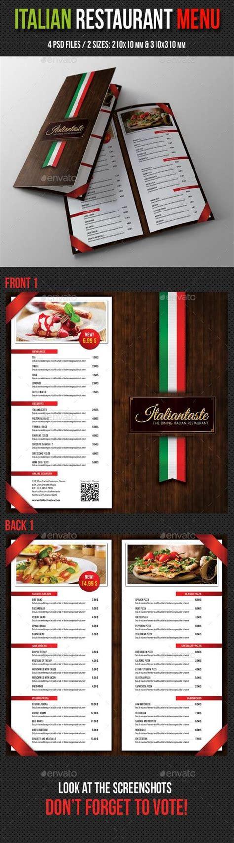 italian restaurant menu template italian brochures and restaurant on