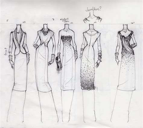 create pattern sketch 3 fashion sketches bocetos e ilustraciones fashion
