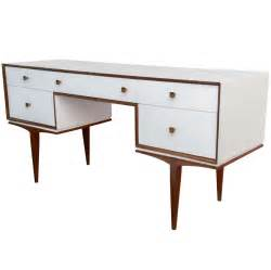 modern writing desk vintage modern teak and white lacquered writing