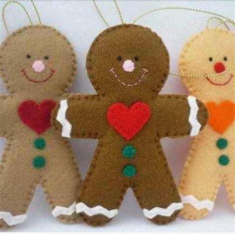 pan de jengibre fieltro dulces y galletas por simplysweetgifts adornos con fieltro detalles de navidad pinterest