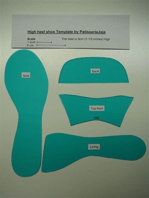 gumpaste high heel template gumpaste stiletto template gumpaste figurines