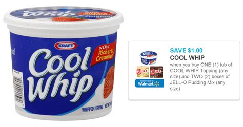 cool whip coupons rare 1 00 cool whip coupon