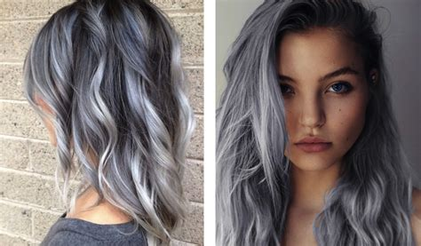 popular trending gray hair colors die haarfarben trends 2017